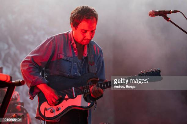 Daniel Rossen of Grizzly Bear performs on the Mountain stage during day 3 at Greenman Festival on August 19, 2018 in Brecon, Wales.