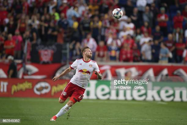 Daniel Royer of New York Red Bulls in action during the New York Red Bulls Vs Atlanta United FC MLS regular season match at Red Bull Arena Harrison...