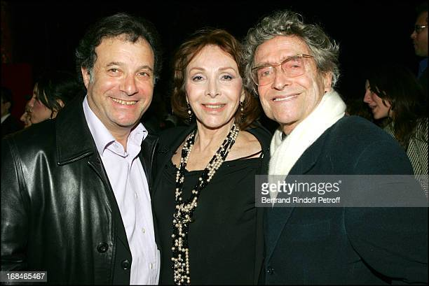 Daniel Russo Darry Cowl and wife at Dalida TV Film Tribute To The Singer