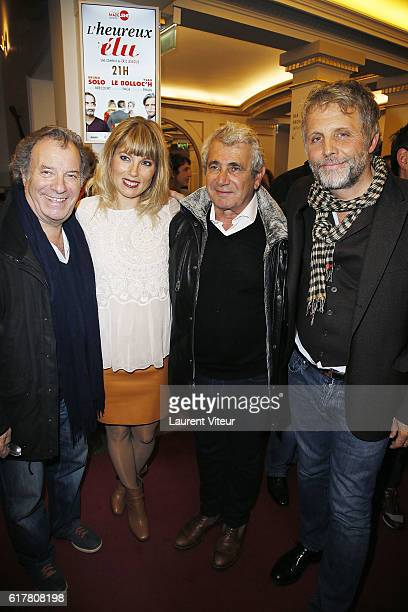 Daniel Russo Melanie Page Michel Boujenah and Stephane Guillon attend 'L'Heureux Elu' theater play premiere at Theatre de La Madeleine on October 24...