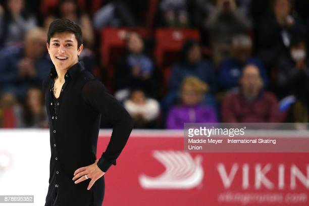 Daniel Samohin of Israel after his Mens Short program on Day 1 of the ISU Grand Prix of Figure Skating at Herb Brooks Arena on November 24 2017 in...