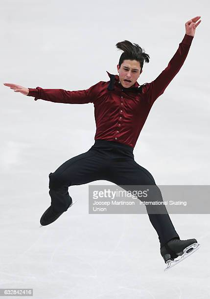 Daniel Samohin of Israel competes in the Men's Short Program during day 3 of the European Figure Skating Championships at Ostravar Arena on January...