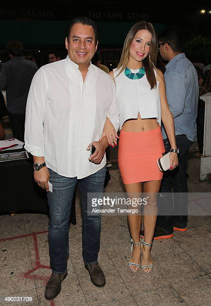 Daniel Sarcos and Alessandra Villegas attend the Ricardo Arjona private concert at Gusman Center for the Performing Arts on May 13 2014 in Miami...