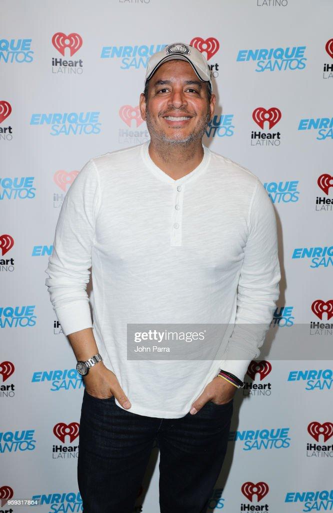 Daniel Sarcos visits 'The Enrique Santos Show' at I Heart Latino Studios on May 16, 2018 in Miramar, Florida.