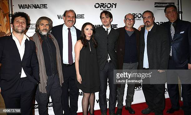 Daniel Sauli Michael Imperioli Nick Sandow Adriana DeMeo Vincent Piazza Johnny Ventimiglia and David Zayas attend The Wannabe New York Premiere at...