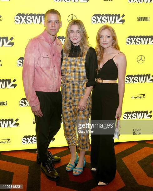 Daniel Savage Kaitlyn Dever Thomas Mann Alice Englert and Britt Poulton attend the premiere of 'Them That Follow' at the Alamo Drafthouse South Lamar...
