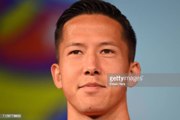 Daniel Schmidt of Vegalta Sendai looks on during the JLeague Kick Off Conference on February 14 2019 in Tokyo Japan