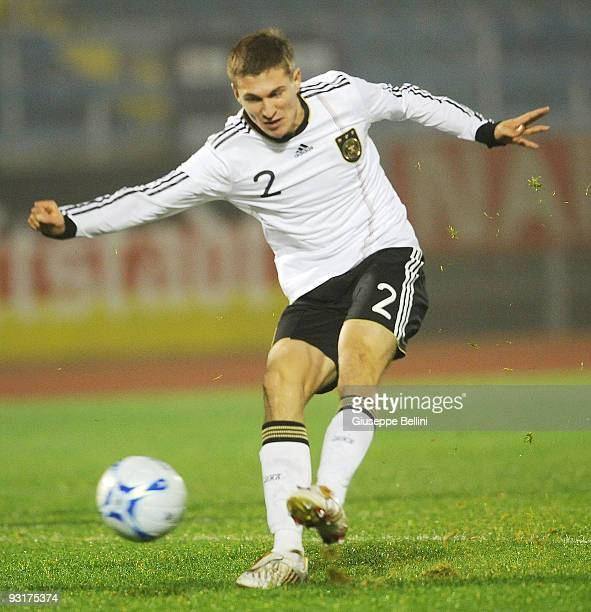 Daniel Schwaab of Germany in action during the UEFA Under 21 Championship match between San Marino and Germany at Olimpico stadium on November 17,...