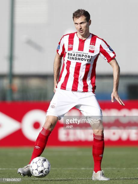 Daniel Schwaab of PSV during a international friendly match between PSV Eindhoven and KAS Eupen at Aspire Academy on January 11, 2020 in Doha, Qatar