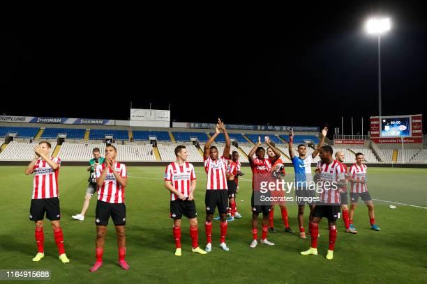 Daniel Schwaab of PSV, Mohamed Ihattaren of PSV, Robbin Ruiter of PSV, Pablo Rosario of PSV, Erick Gutierrez of PSV, Nick Viergever of PSV, Denzel...