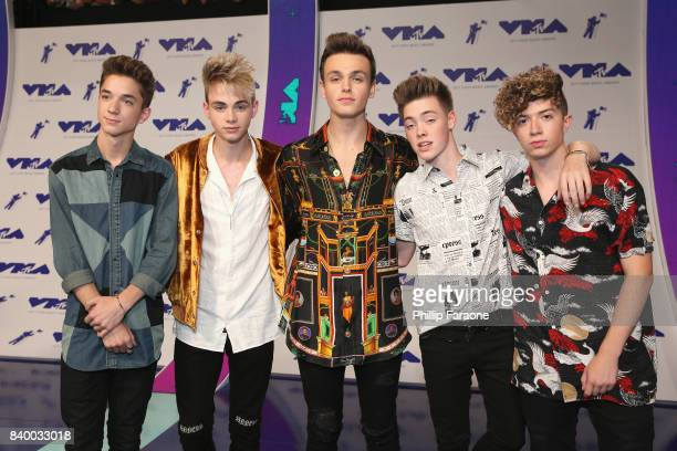 Daniel Seavey Corbyn Benson Jonah Marais Zach Herron and Jack Avery of Why Don't We attend the 2017 MTV Video Music Awards at The Forum on August 27...
