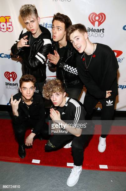 Daniel Seavey Corbyn Besson Jack Avery Jonah Marais and Zach Herron of Why Don't We attend the Hot 995 iHeartRadio Jingle Ball 2017 at Capital One...