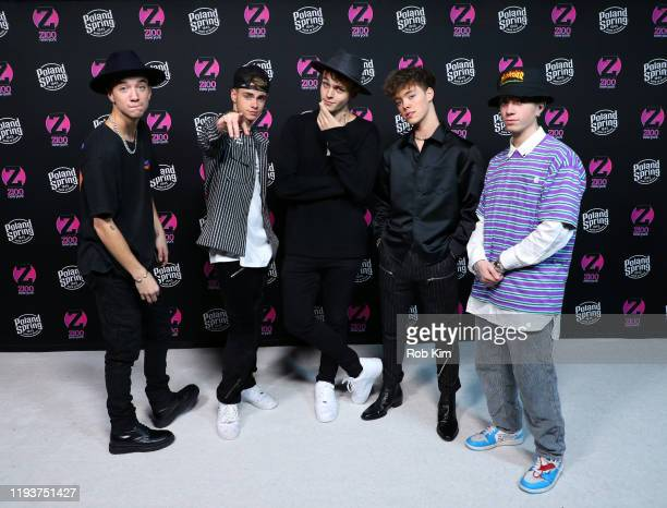 Daniel Seavey Corbyn Besson Jonah Marais Zach Herron and Jack Avery of Why Don't We attend the z100 All Access Lounge presented by Poland Spring...