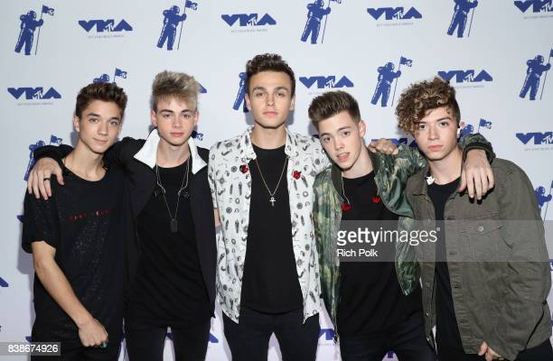 Daniel Seavey Corbyn Besson Jonah Marais Zach Herron and Jack Avery of Why Don't We attend MTV Presents 'VMA Weekend' at Avalon on August 24 2017 in...