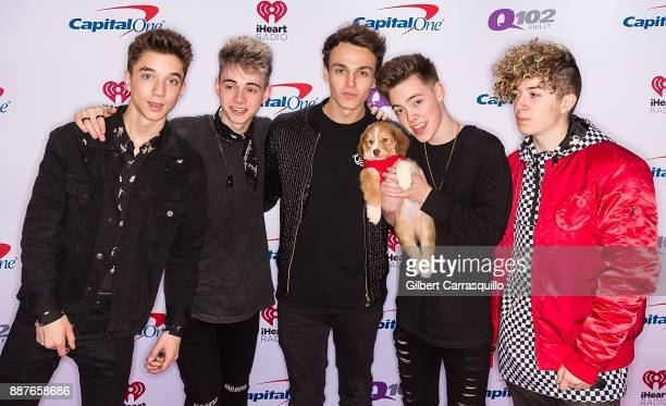 Daniel Seavey Corbyn Besson Jonah Marais Zach Herron and Jack Avery of Why Don't We attend Q102's Jingle Ball 2017 Presented by Capital One at Wells...