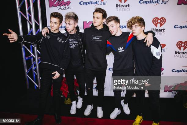 LR Daniel Seavey Corbyn Besson Jonah Marais Zach Herron and Jack Avery of Why Don't We attend the KISS 108's Jingle Ball 2017 presented by Capital...