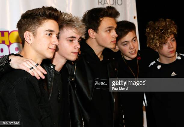 Daniel Seavey Corbyn Besson Jonah Marais Zach Herron and Jack Avery of Why Don't We attend the Hot 995 iHeartRadio Jingle Ball 2017 at Capital One...