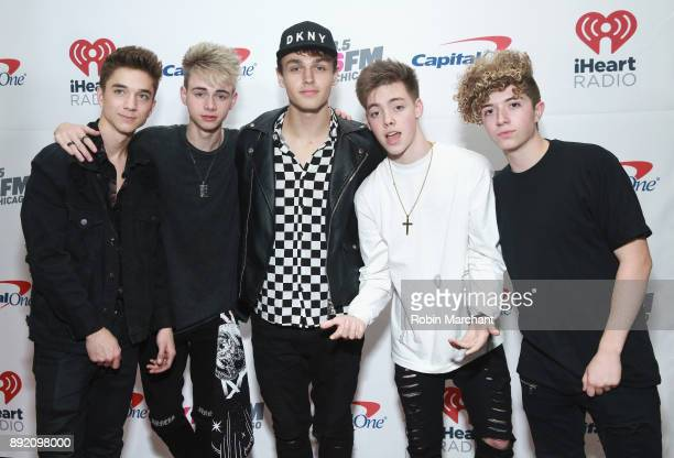 Daniel Seavey Corbyn Besson Jonah Marais Zach Herron and Jack Avery of Why Don't We attend 1035 KISS FM's iHeartRadio Jingle Ball 2017 on December 13...