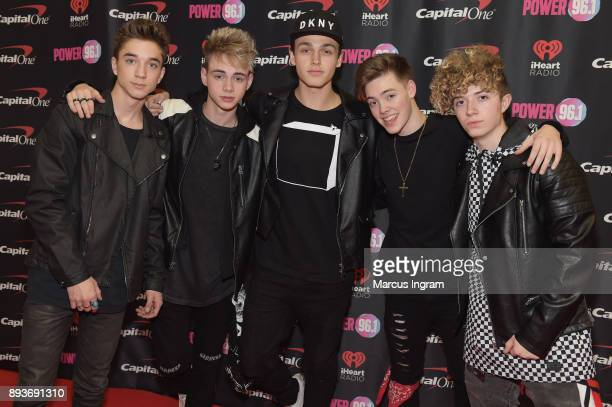 Daniel Seavey Corbyn Besson Jonah Marais Zach Herron and Jack Avery of Why Don't We attend Power 961's Jingle Ball 2017 Presented by Capital One at...