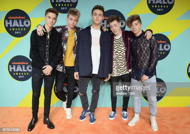 Daniel Seavey Corbyn Besson Jonah Marais Zach Herron Jack Avery of Why Don't We attend the 2017 Nickelodeon HALO Awards at Pier 36 on November 4 2017...