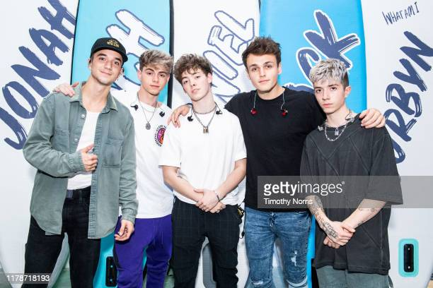 Daniel Seavey Corbyn Besson Zach Herron Jonah Marais and Jack Avery of Why Don't We attend the Why Don't We Los Angeles Pop Up Experience on October...