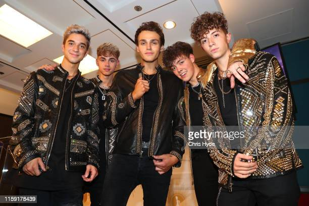 Daniel Seavey Jack Avery Corbyn Besson Zach Herron and Jonah Marais of pop group Why Don't We pose in the Awards Room during the 61st Annual TV WEEK...