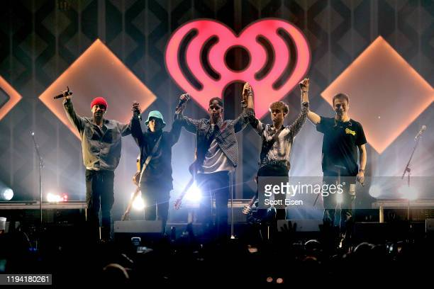 Daniel Seavey Jack Avery Corbyn Besson Zach Herron and Jonah Marais of Why Don't We perform onstage during KISS 108's iHeartRadio Jingle Ball 2019 on...