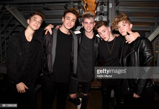 Daniel Seavey Jonah Marais Corbyn Besson Zach Herron and Jack Avery of Why Don't We are seen backstage at 1061 KISS FM's Jingle Ball 2017 Presented...