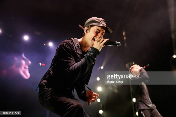 Daniel Seavey of Why Don't We performs live at Eventim Apollo on October 25 2018 in London England