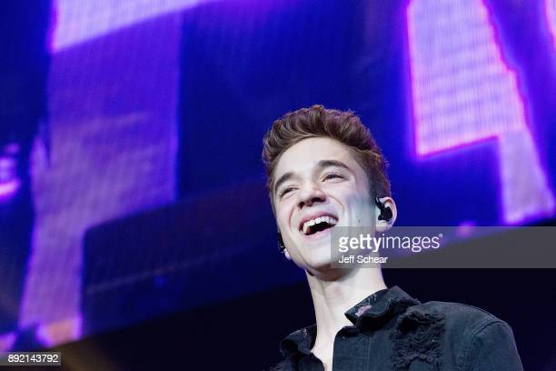 Daniel Seavey of Why Don't We performs on stage at 1035 KISS FM's iHeartRadio Jingle Ball 2017 on December 13 2017 in Chicago Illinois