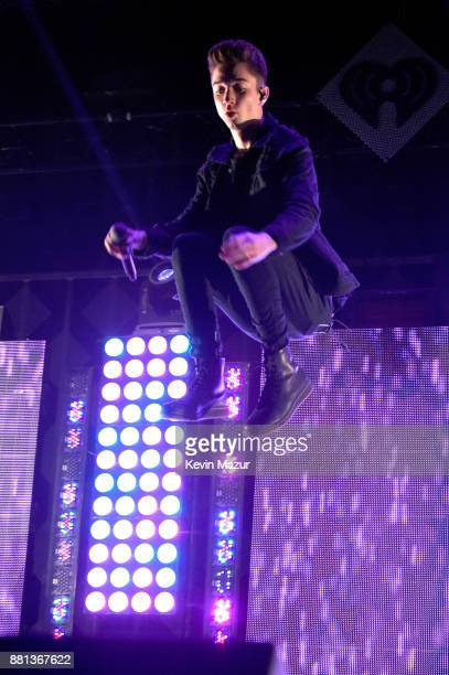 Daniel Seavey of Why Don't We performs onstage at 1061 KISS FM's Jingle Ball 2017 Presented by Capital One at American Airlines Center on November 28...