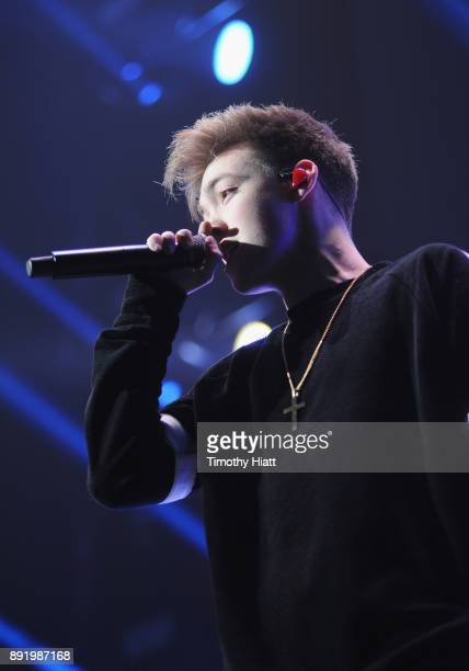 Daniel Seavey of Why Don't We performs onstage during 1035 KISS FM's Jingle Ball 2017 at Allstate Arena on December 13 2017 in Rosemont Illinois