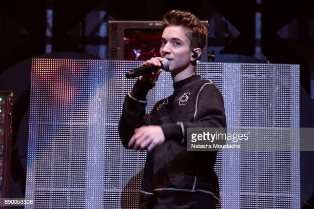Daniel Seavey of Why Don't We performs onstage during the KISS 108's Jingle Ball 2017 presented by Capital One at TD Garden on December 10 2017 in...