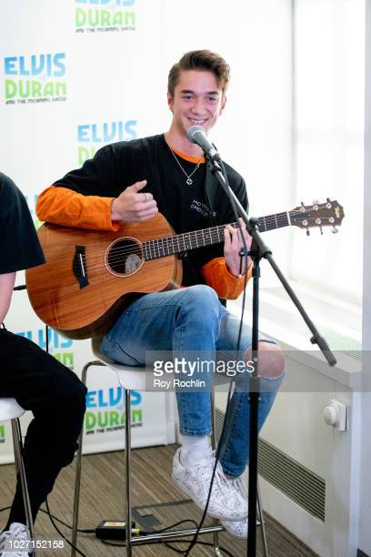 Daniel Seavey of Why Don't We visits the Elvis Duran Show co hosted by singer Alessia Cara at Z100 Studio on September 5 2018 in New York City