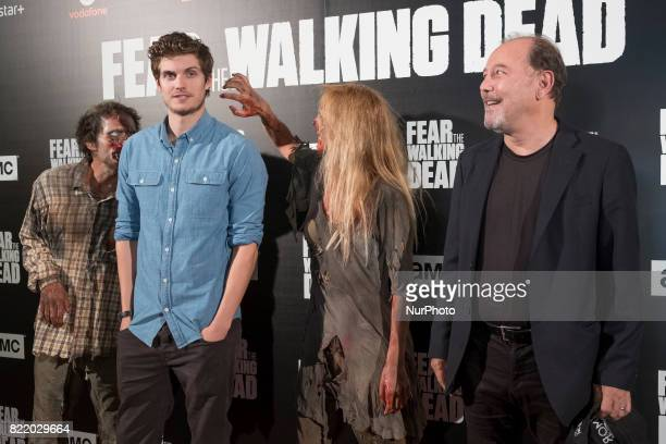 Daniel Sharman and Ruben Blades attend 'Fear The Walking Dead' photocall at Callao Cinema on July 24 2017 in Madrid Spain