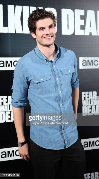 Daniel Sharman attends 'Fear The Walking Dead' photocall at Callao Cinema on July 24 2017 in Madrid Spain