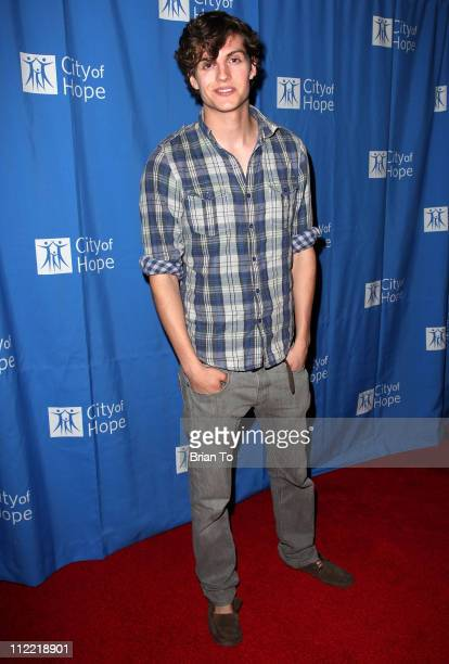 Daniel Sharman attends Renato Balestra fashion show and cocktail reception benefiting City of Hope at Millennium Biltmore Hotel on April 14 2011 in...