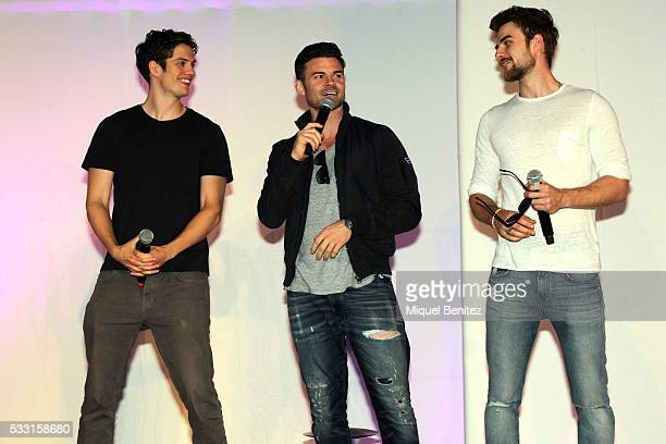 Daniel Sharman Daniel Gillies and Nathaniel Buzolic attend a fan meeting of 'Bloody Night Con 2016' at Barcelo Sants Barcelona Hotel on May 21 2016...