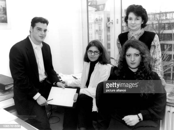 Daniel Sheffer Ronith Jaekel Larisa Drehhtiar and Natascha Lachmantschuk inside their office of the jewish community in Hansestadt Hamburg This four...