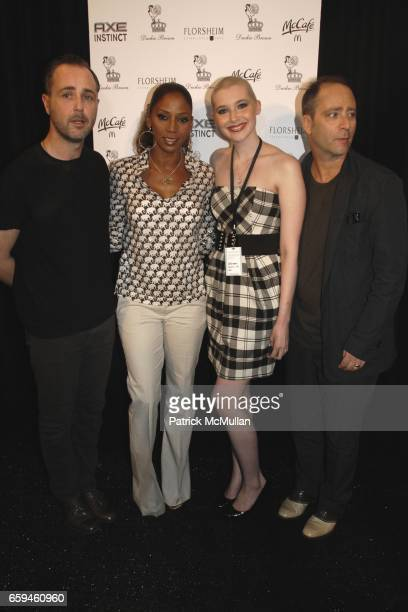 Daniel Silver Holly Robinson Peete Ashley Conrad and Steven Cox attend DUCKIE BROWN Spring 2010 Collection at The Salon on September 10 2009 in New...
