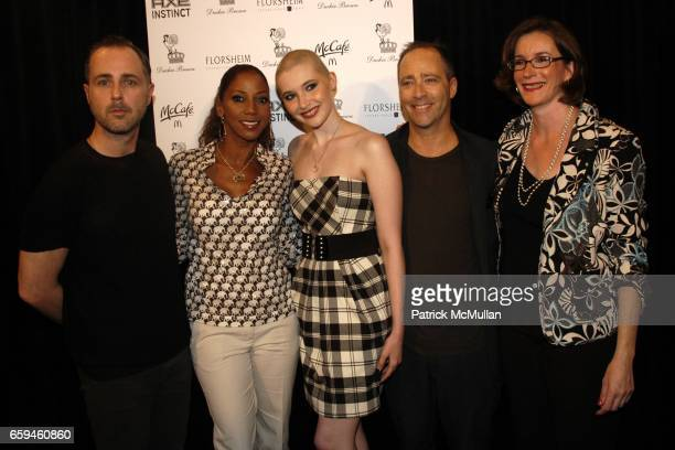 Daniel Silver Holly Robinson Peete Ashley Conrad Steven Cox and Gayle Conrad attend DUCKIE BROWN Spring 2010 Collection at The Salon on September 10...