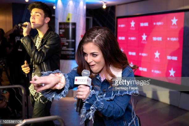 Daniel Skye and Baby Ariel perform at Macy's Herald Square in honor of Back To School on August 25 2018 in New York City