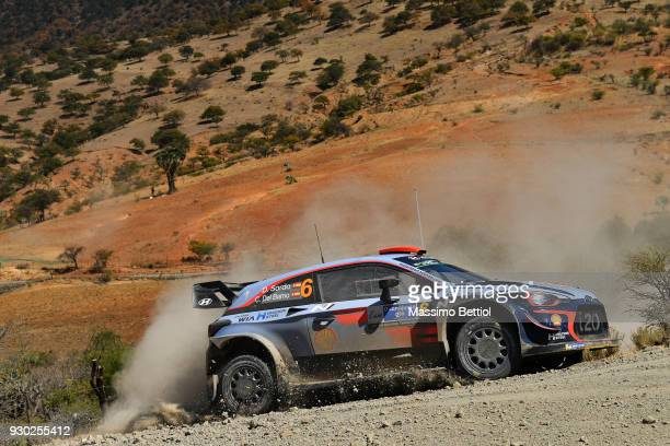 Daniel Sordo from Spain and Carlos Del Barrio from Spain compete in their Hyundai Shell Mobis WRT Hyundai i20 Coupe WRC during Day Two of the WRC...
