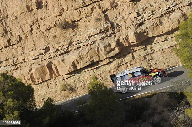 Daniel Sordo of Spain and Carlos Del Barrio of Spain compete in their Mini Wrc Team Mini John Cooper Works wrc during Day2 of the WRC Rally of Spain...