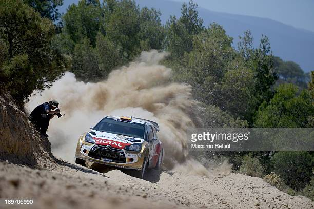 Daniel Sordo of Spain and Carlos Del Barrio of Spain compete in their Citroen Total Abu Dhabi WRT Citroen DS3 WRC during the Shakedown of the WRC...