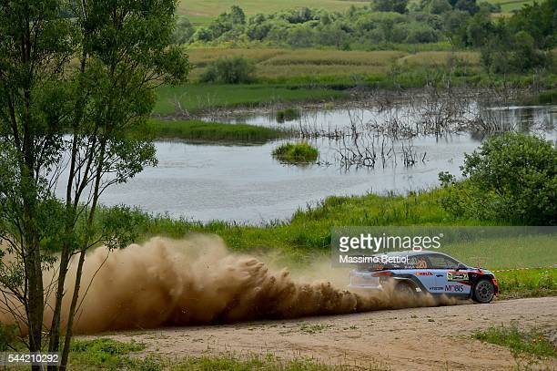 Daniel Sordo of Spain and Marc Marti of Spain compete in their Hyundai Motorsport N Hyundai i20 WRC during Day One of the WRC Poland on July 1 2016...