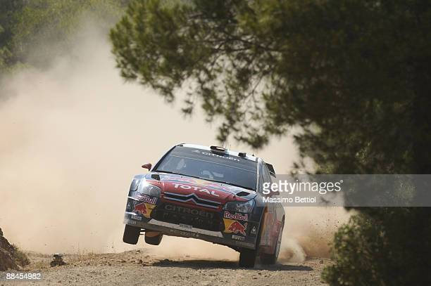 Daniel Sordo of Spain and Marc Marti of Spain in action in the Citroen C4 Total during Leg 1 of the WRC Acropolis Rally of Greece on June 12 2009 in...