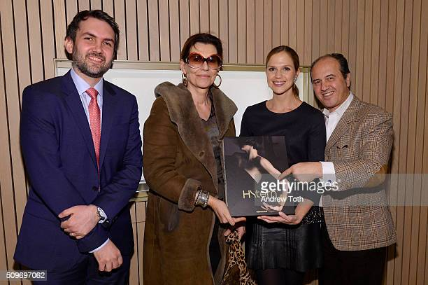 Daniel Spector Martine Assouline Alix de Ligne and Prosper Assouline attend the book launch of 'HStern' published by Assouline on February 11 2016 in...