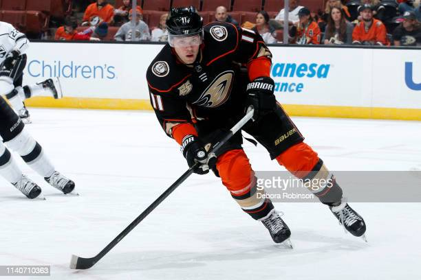 Daniel Sprong of the Anaheim Ducks skates during the game against the Los Angeles Kings on April 5, 2019 at Honda Center in Anaheim, California.