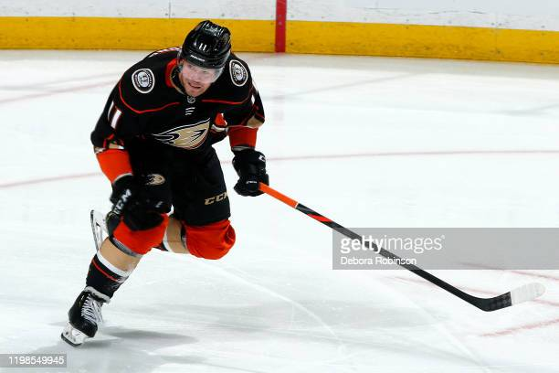 Daniel Sprong of the Anaheim Ducks skates during the game against the Columbus Blue Jackets at Honda Center on January 7, 2020 in Anaheim, California.
